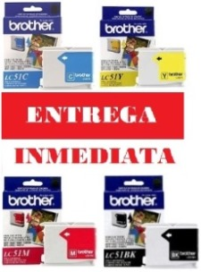 PACK BROTHER CARTRIDGE BROTHER LC51 NEGRO CYAN MAGENTA YELLOW