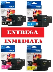 PACK BROTHER CARTRIDGE BROTHER LC-71 NEGRO/ CYAN/ MAGENTA/ YELLOW ORIGINAL