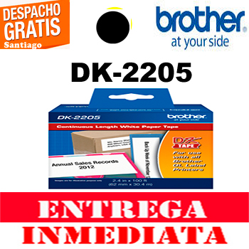 ETIQUETA BROTHER DK-2205 62MM x 30.48 MTS