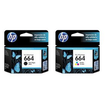 Pack HP 664 (F6V29AL/F6V28AL) Negro/Color Original
